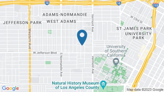 Los Angeles RoomRentals near USC Map