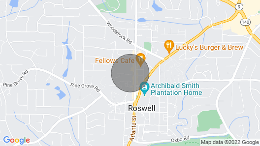 Peaceful Cottage in Heart of Historic Roswell Map