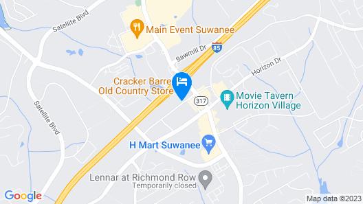 Motel 6 Suwanee, GA - Gwinnett Center Map