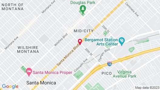 Gateway Hotel Santa Monica Map