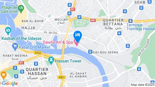 Dawliz Rabat Resort & Spa Map