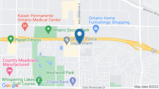 Americas Best Value Inn & Suites Ontario Map