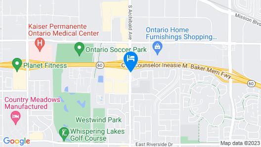 Americas Best Value Inn & Suites Ontario Map