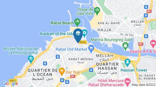 Hôtel des Oudaias Map