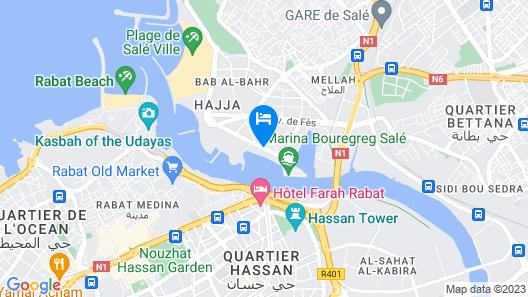 Marina Rabat Suites & Apartments Map