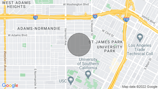 Walk to USC & LA Rams! Located in Gold Zone! Map