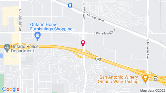 Holiday Inn Express and Suites Ontario Airport, an IHG Hotel Map