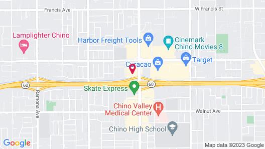 Motel 6 Chino, CA - Los Angeles Area Map