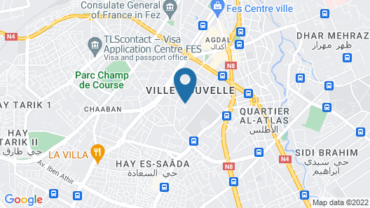 Fes Marriott Hotel Jnan Palace Map