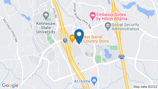 Comfort Suites At Kennesaw State University Map