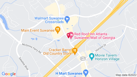 Red Roof Inn Atlanta - Suwanee/Mall of Georgia Map