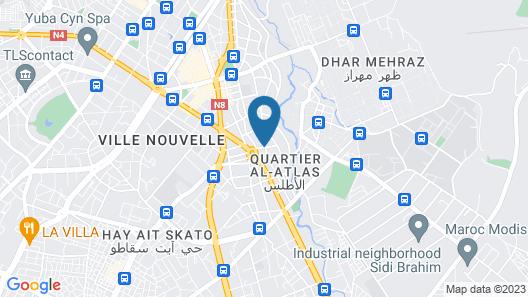 Hôtel Nouzha Map
