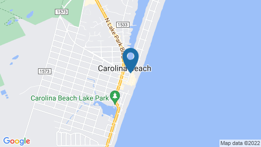 Hampton Inn & Suites by Hilton Carolina Beach Oceanfront Map