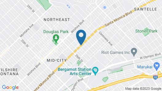 Comfort Inn Santa Monica - West Los Angeles Map