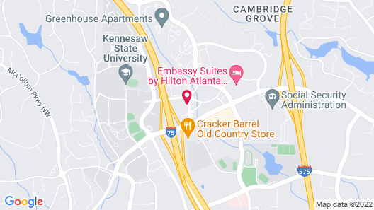 Residence Inn by Marriott Kennesaw\Town Center Map