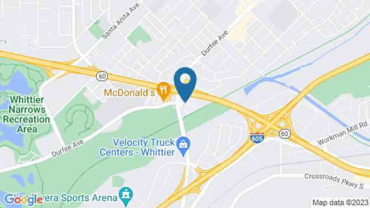 Motel 6 South El Monte, CA - Los Angeles Map