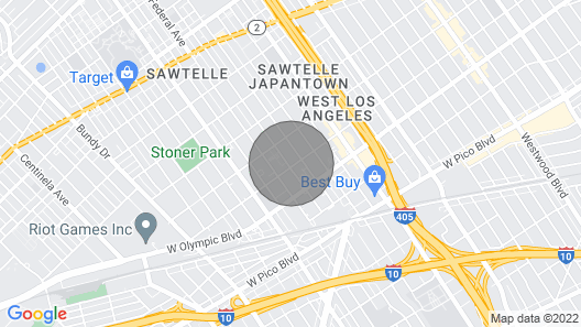 2Br One Ba House in a Great West LA Location Near Restaurants and Shops Map