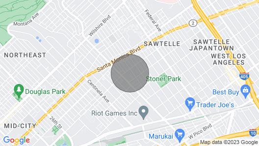 2 bedroom Santa Monica Furnished Apartments #RU106 Map