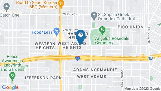 Los Angeles RoomRentals Harvard Heights Map
