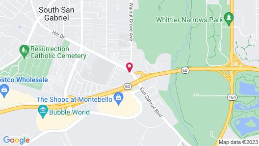 Motel 6 Rosemead, CA - Los Angeles Map