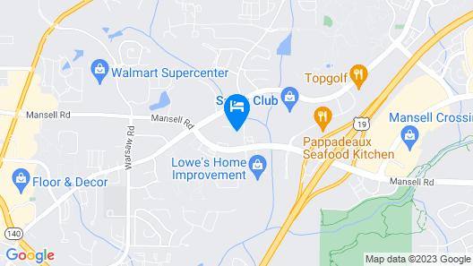 Hampton Inn Alpharetta/Roswell, GA Map