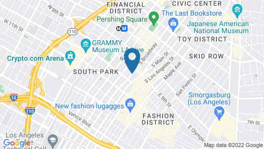 Ace Hotel Downtown Los Angeles Map