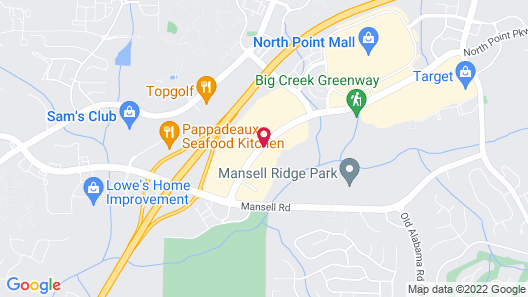 Hyatt Place Atlanta/Alpharetta/North Point Mall Map