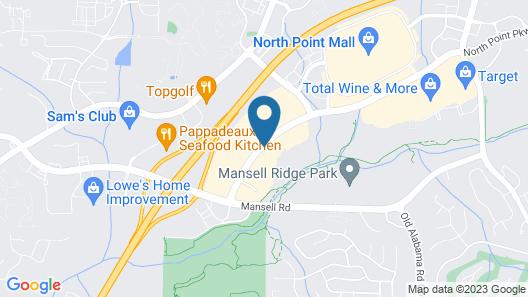 Hyatt Place Atlanta/Alpharetta/North Point Mall Map