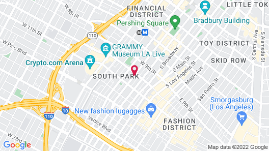 Brand New Downtown LA Luxury Apartment Map