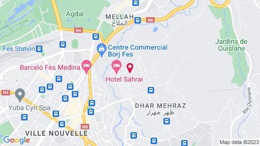 Hotel Sahrai Map