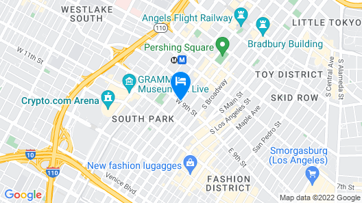 LEVEL Los Angeles Downtown - South Olive  Map