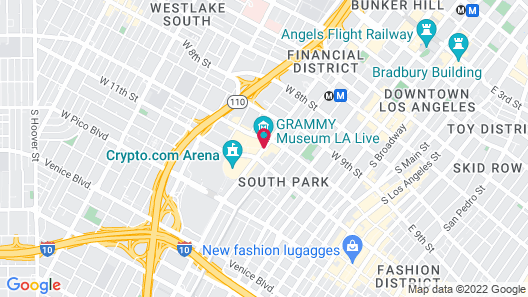 E-Central Downtown Los Angeles Hotel Map