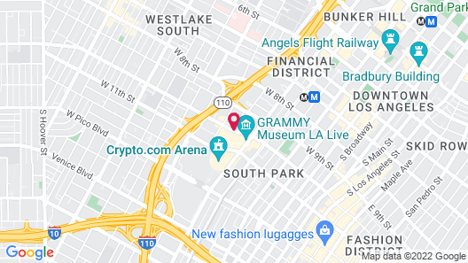 Residence Inn Los Angeles L.A. LIVE Map