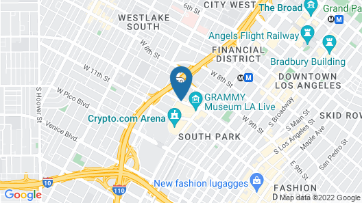 JW Marriott Los Angeles L.A. LIVE Map