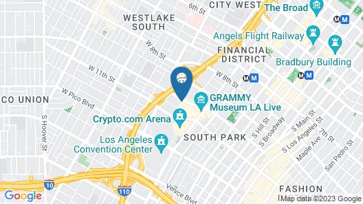 The Ritz-Carlton, Los Angeles Map