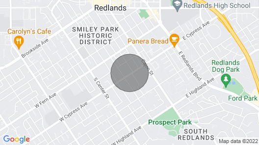 The Redlands Guesthouse: Historic District/pool/spa Map