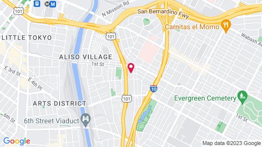 Mariachi Plaza Hotel Map