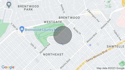 Entire House, Modern Home in Brentwood Adj Ucla, Santa Monica Map