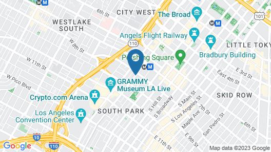 The Wayfarer Downtown LA Map