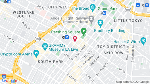 The NoMad Hotel Los Angeles Map