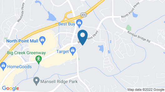 Hilton Garden Inn Atlanta Northpoint Map