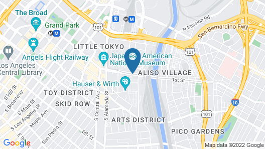 PodShare DTLA Arts District - Hostel Map
