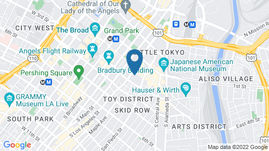 Downtown Cosmopolitan Suites Map