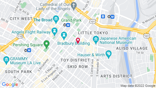 Fully Furnished Suites near Little Tokyo Map