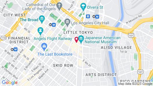 Miyako Hotel Los Angeles Map