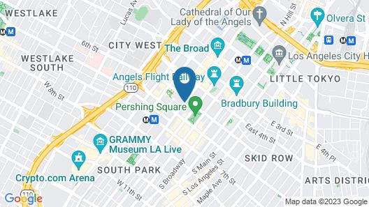 Millennium Biltmore Los Angeles Map