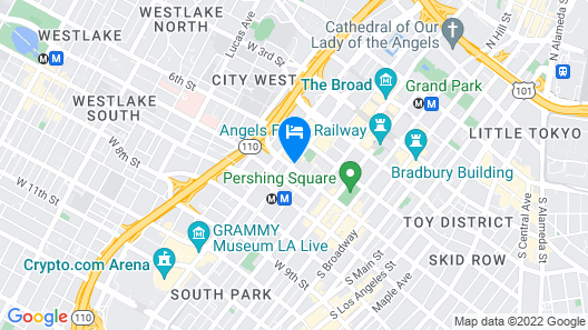 The Standard Downtown LA Map
