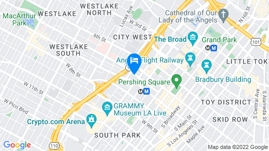 InterContinental Los Angeles Downtown, an IHG Hotel Map