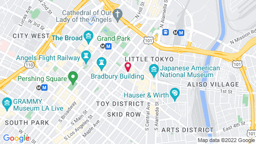 DoubleTree by Hilton Hotel Los Angeles Downtown Map