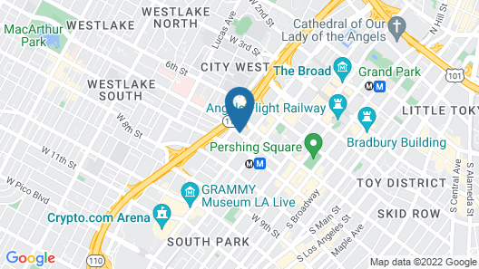 InterContinental Los Angeles Downtown Map